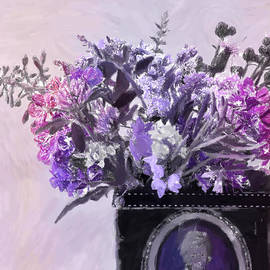 Sandra Foster - Wild Flower Bouquet - Digital Pastel