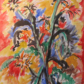 Esther Newman-Cohen - Wildflowers Tryptich 3