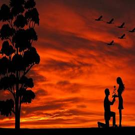 David Dehner - Will You Marry Me Sunset Silhouette Series