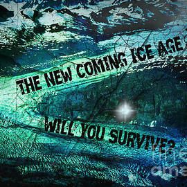 Absinthe Art By Michelle LeAnn Scott - Will You Survive? The New Coming Ice Age