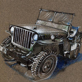 Daliana Pacuraru - Willys Car Drawing