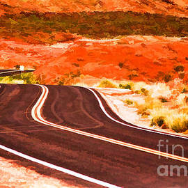 Les Palenik - Winding Road In Valley Of Fire - Painterly