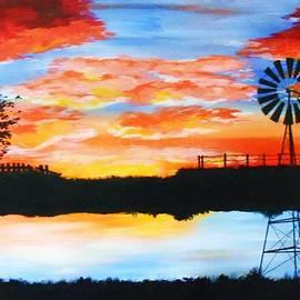 Michelle Pope - Windmill Sunset