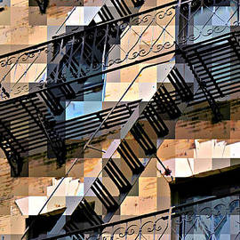 Miriam Danar - WindowScape 3 - Old Buildings of New York City