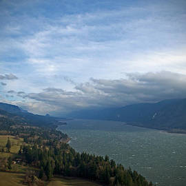 Tina Wentworth - Windy Fall Day Overlooking The Columbia River Gorge