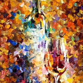 Leonid Afremov - Wine For Emotions - PALETTE KNIFE Oil Painting On Canvas By Leonid Afremov