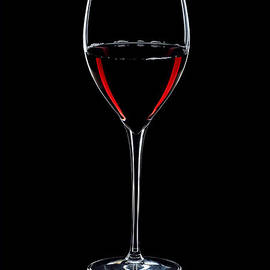 Wineglass Filled With Red Wine Silhouette
