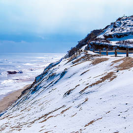 Karen Regan - Winter at Cahoon Hollow Beach