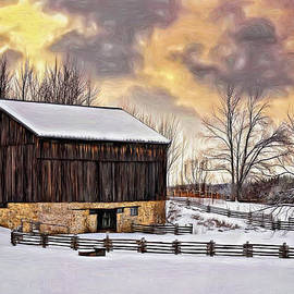 Steve Harrington - Winter Barn - Paint