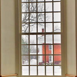 Marcel  J Goetz  Sr - Winter Church Window