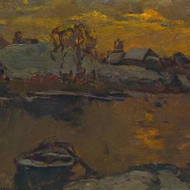 Vasilij Belikov - Winter evening on the river