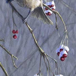 Karen Whitworth - Winter Harvest 1 Chickadee Painting