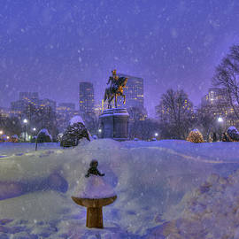 Joann Vitali - Winter in Boston - George Washington Monument - Boston Public Garden
