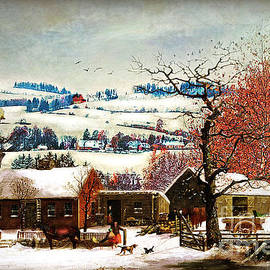 Lianne Schneider - Winter In the Country Folk Art