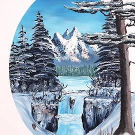 Chet Lowry - Winter Mountain Waterfall