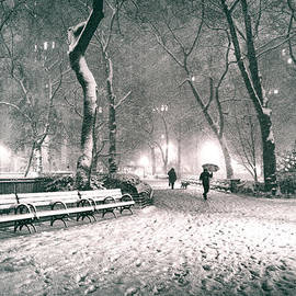 Vivienne Gucwa - Winter Night - New York City - Madison Square Park
