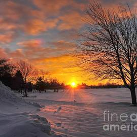 Terri Gostola - Winter Sunrise at Cadillac Michigan City Park