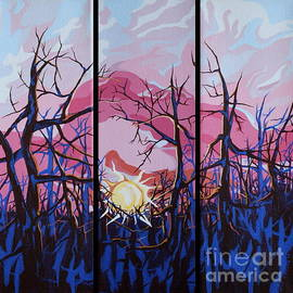 Marie Spence - Winter Sunrise - Triptych