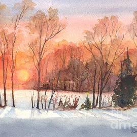 Carol Wisniewski - A Winter Sunset Serenade