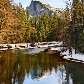 Jamie Pham - Winter view of Half Dome in Yosemite National Park.