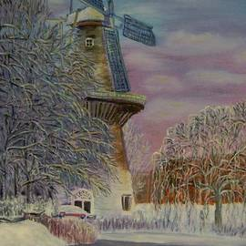 Elena Sokolova - Winter windmil in Schiedam