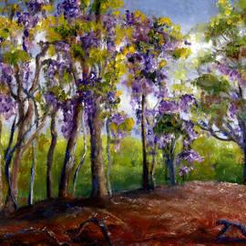 Lenora  De Lude - Wisteria in Louisiana Trees