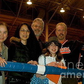 Jim Fitzpatrick - With My Family after being Presented with the 2008-2009 Roller Derby World Championship Trophy