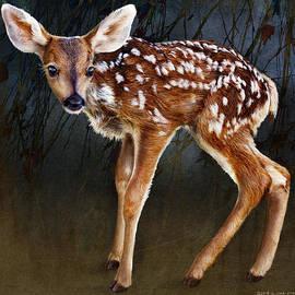 R christopher Vest - Wobbly Baby Fawn Deer Portrait