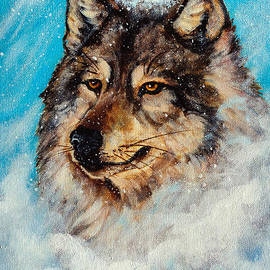 Bob and Nadine Johnston - Wolf in a Snow Storm