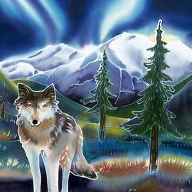 Harriet Peck Taylor - Wolf Under the Northern Lights