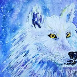 Ellen Levinson - Wolf - White Wolf - Aurora Nights in Blues