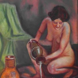 William Cain - Woman Bathing Art Print