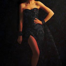Davandra Cribbie - Woman in Blue