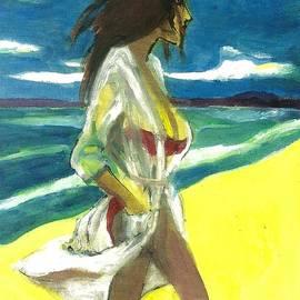 Harry WEISBURD - Woman In Red Bikini