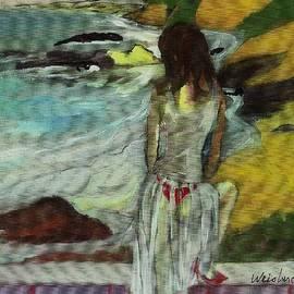 Harry WEISBURD - Woman In Sheer Dress By Sea