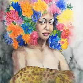 Yoshiko Mishina - Woman In The Flower Hat 2