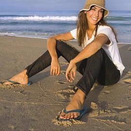 Nasser Studios - Girl Enjoying Beach Time