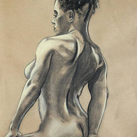 Asha Carolyn Young - Woman Seated on a Stool