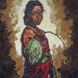 Mihira Karra - Woman with a coconut