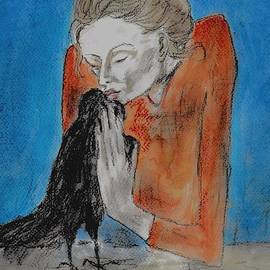 P J Lewis - Woman with a crow