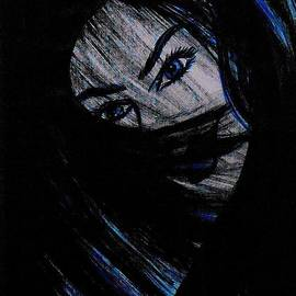 Rain Art - Woman With Blue Eyes 3