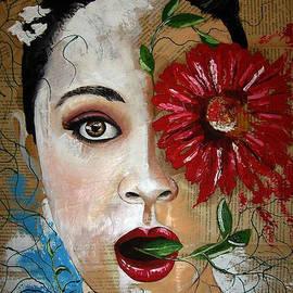 Marek Golebiowski - Woman With Flower