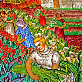 Joseph Coulombe - Women Gathering Flowers
