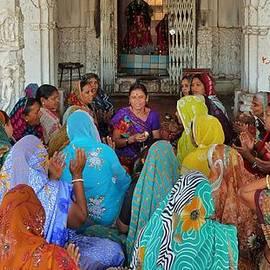 Kim Bemis - Women Singing Devotionals at a Temple - Omkareshwar India