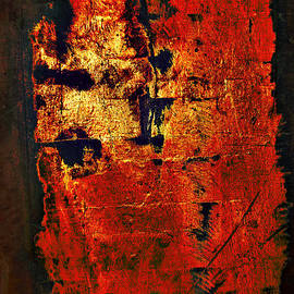 Renee Anderson - Wood on Fire 3 painting ORIGINAL SOLD