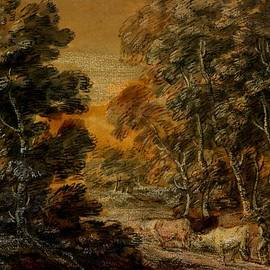 Thomas Gainsborough - Wooded Landscape with Herdsman and Cattle