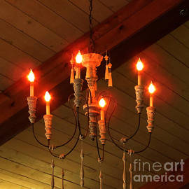 Tina M Wenger - Wooden Ceiling and Lamp