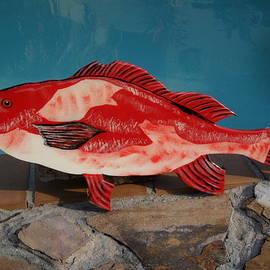 Val Oconnor - Wooden Red Snapper