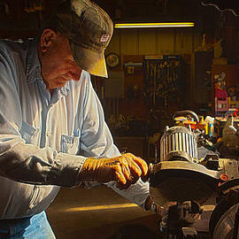 Jim Finch - Working in the Shop