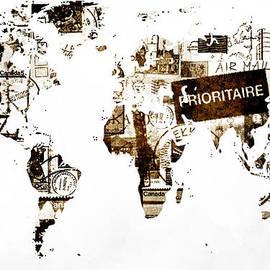 Eti Reid - World map post stamps